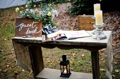 Guest book sign in | Country Music Singer Emily Hearn DIY Chic Rustic Country Wedding | Photograph by Stansberry Photography  http://storyboardwedding.com/country-music-singer-emily-hearn-diy-chic-rustic-country-wedding/
