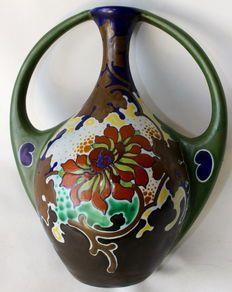 Plateelbakkerij Regina Gouda - vaas decor Chryso (hoog 28 cm)