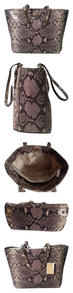 02975e6378580e $199.99 - Michael Kors Harper Large EW Embossed Leather Tote Dark Sand # michaelkors