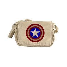 Captain America Messenger Bag ❤ liked on Polyvore