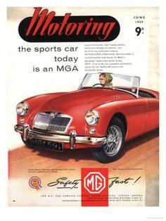 1959 MGA Roadster poster