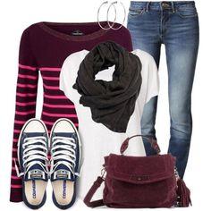 """Breton Striped Sweater"" by wishlist123 on Polyvore"