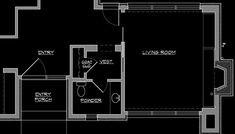 Small Powder Room Floor Plans   modern entry design by toronto interior designer Lisa Ferguson