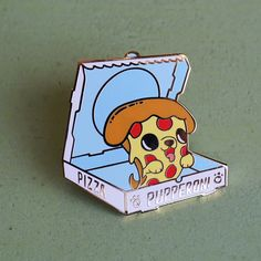 Pupperoni Hard Enamel Lapel Pin by LindaPanda on Etsy. Pupperoni! I love a good pun