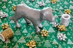 Creative Christmas Decor DIY - Make a Vintage Style Faux Metallic Dog Figurine