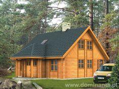 Drewniany dom letniskowy zachęca do wypoczynku.