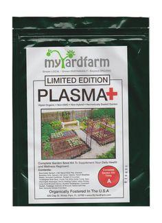 PLASMA+ BLOOD TYPE HEALTH VEGETABLE GARDEN KIT! 20,000+ Organic Vegetable Seeds per kit. 100% Organic, Non-GMO, Non-Hybrid, and USA sourced (Type A)