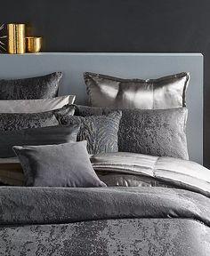 Donna Karan - Glam Bedding, Bedroom Comforter Sets, Dona Karan, Master Bedroom, Bedroom Decor, Bedroom Ideas, Corner Bench Seating, Living Room Colors, Bedding Collections