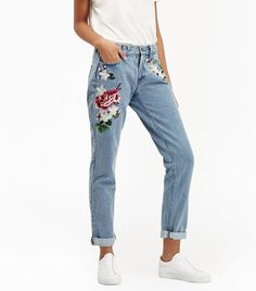 Love, Want, Need: French Connection's Embroidered Jeans via @WhoWhatWearUK