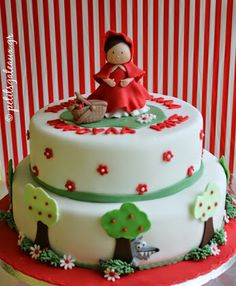 Little Red Riding Hood themed birthday cake!