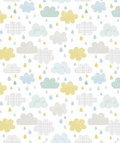 Smile, It's Raining Wolken - Behang