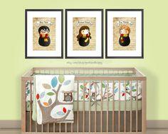 Harry Potter Nursery Wall Art set of 3  / Room Decor Prints