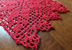 SALE Christmas table runner crochet doily crochet by MadeByElina