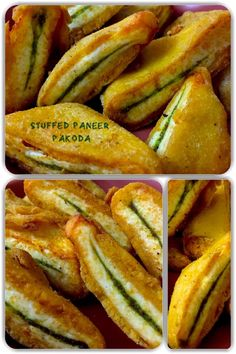 Stuffed Paneer pakora is made with some stuffing of green chutney or red chutney. They are very crisp on the outside and medium soft to crisp inside. Hot Dog Buns, Hot Dogs, Paneer Pakora, Green Chutney, Cottage Cheese, Stuffing, Indian Food Recipes, Crisp, Badge