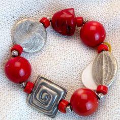 armband_01_019 Charmed, Drop Earrings, Bracelets, Jewelry, Fashion, Semi Precious Beads, Handmade, Wristlets, Schmuck