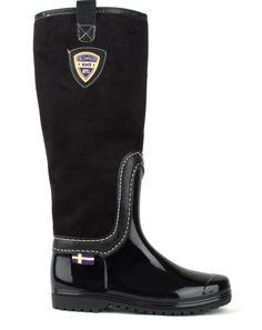 Černé dámské holínky Break & Walk Rubber Rain Boots, Riding Boots, Walking, Shoes, Fashion, Dark Around Eyes, Horse Riding Boots, Moda, Zapatos