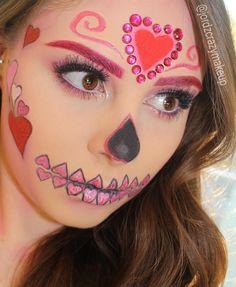 Valentines Sugar Skull Makeup Sugar Skull Makeup Easy, Halloween Makeup Sugar Skull, Sugar Skull
