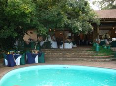 The Pool Terrace at Stonehaven on Vaal - an ideal Function, Wedding, Party, Conference or Business Functions Venue. Stonehaven is 45 mins from Joburg and is located on the banks of the Vaal River Banks, Acre, South Africa, Conference, Terrace, Wedding Venues, River, Country, Business