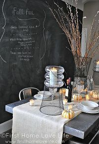 rustic industrial fall tablescape, seasonal holiday d cor