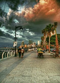 Street food for sale on the Corniche in Beirut Lebanon Places Around The World, Oh The Places You'll Go, Places To Travel, Travel Destinations, Places To Visit, Around The Worlds, Beautiful World, Beautiful Places, Amazing Places