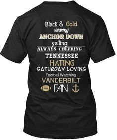 Vanderbilt Football Shirt  #Vanderbilt  #commodores