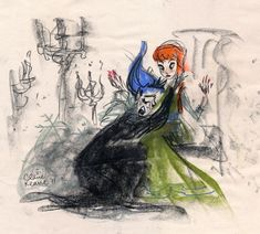 "Disney's ""Frozen"" - Early Elsa's concept art by Claire Keane"