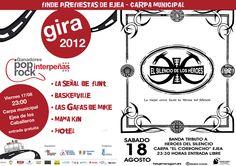 Cartel del concierto PreFiestas de Ejea de los Caballeros en 2012.