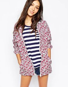 Jack Wills Berry Rain Mac