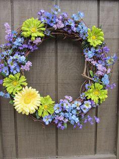 Summer Wreath - Tastefulcreation - Etsy