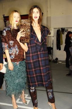 >>> backstage Dries Van Noten (one of my fave collections to date - i have a list)