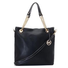 Michael Kors Smooth Outlook Large Black Totes only $72.99