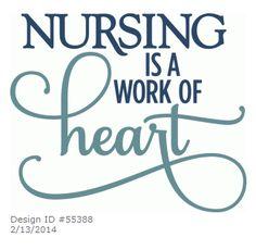 Kolette - Nursing is a Work of Heart - layered phrase by Kolette Hall