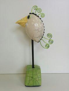 Raku vogel (verkocht)