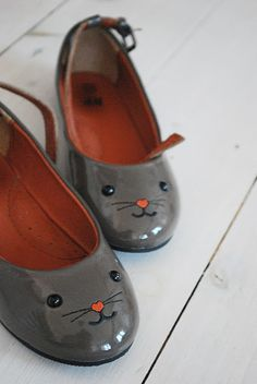 simple, classy, fun details, rather than plastic/cartoons/lights/words/glitter/rainbows on one pair of shoes.
