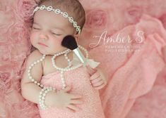 girly newborn girl photography ideas  makeup  diamonds and pearls www.facebook.com/rthisphotography