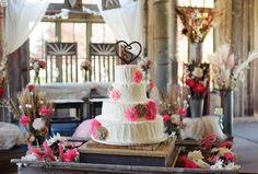 Rustic wedding cake - barn wedding -des moines iowa