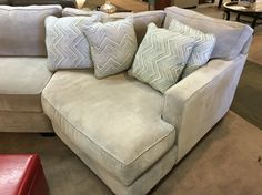 Sectional Couch With A Cuddler Chaise By Jonathan Louis Furniture