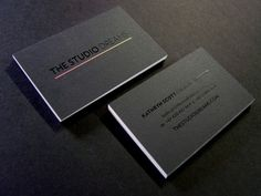 The Studio Dreams – Business cards printed in 3 spot colours on Concept Radiance 352gsm card then Black gloss foiled with some punch on both sides.  Design by The Studio Dreams.