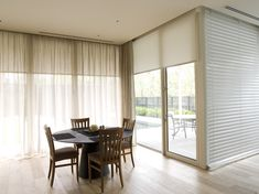 I'm really liking the blind for privacy with a sheer curtain infront to soften