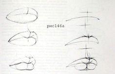 Как нарисовать губы? Способы нарисовать губы карандашом, поэтапно ...