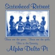 Adorable Alpha Delta Pi sisterhood design! These are the years, these are the girls, this is the sorority!