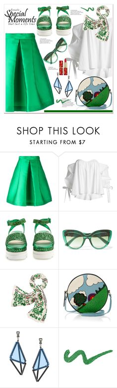 """""""Personal look"""" by spenderellastyle ❤ liked on Polyvore featuring P.A.R.O.S.H., Caroline Constas, Miu Miu, Dolce&Gabbana, Tory Burch, Issey Miyake, polyvoreeditorial and PolyvoreTrendReport"""