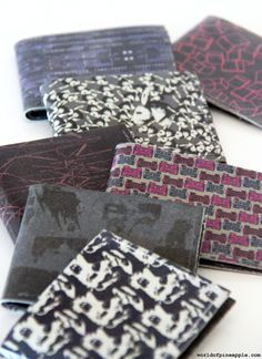 How to make a printed leather wallet for men