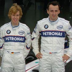 """Happy Birthday to Robert Kubica, who turns 31 today! Pic: Sebastian Vettel with…"