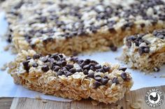 Chewy Chocolate Chip Granola Bars