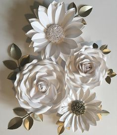 Giant paper flower backdrop, 3d wall decoration or photography prop, created in my studio to order and inspired by the surrounding flora of the English countryside. Strikingly white paper flowers that can be used in many different settings such as for an amazing backdrop to your