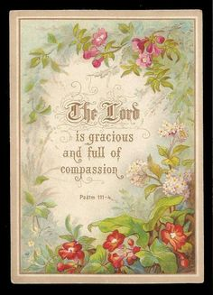 R97 - VICTORIAN RELIGIOUS MOTTO CARD - FLORAL - SCRIPTURE - BIBLE QUOTE in Collectables, Paper & Ephemera, Greeting Cards | eBay