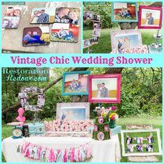 Shutterfly Vintage Chic Wedding Shower by Restoration Redoux #shutterflywedding http://www.restorationredoux.com/?p=8721