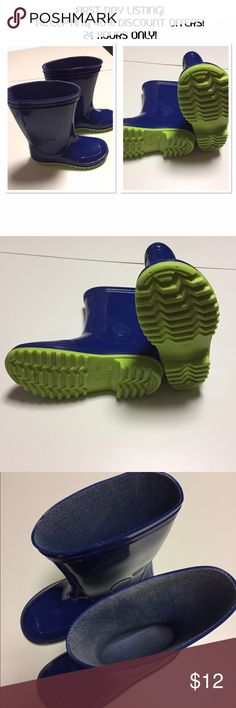 FIRST DAY LISTING! ACCEPTING 40% DISCOUNT OFFERS! Kids puddle boots- FIRST DAY LISTING! ACCEPTING $9 OFFERS!  24 HOURS ONLY! 1/26/17 only!  Great condition, sturdy tread!  Smoke free home! Shoes Rain & Snow Boots