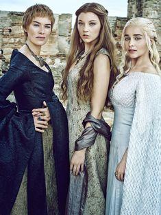 Lena Headey as Cersei Lannister, Natalie Dormer as Margaery Tyrell and Emilia Clarke as Daenerys Targaryen